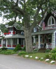 Historic cottage neighborhood in Oak Bluffs MA