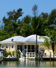 Cottages on the bay at Sanibel Island FL