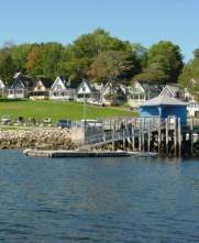 Vacation cottages at Bayside, Maine