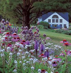 Butterfly Garden at White Flower Farm can serve as a pattern for your own cottage garden.