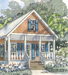 Plans for Mango Cottage from Seacoast Cottages
