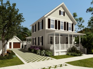 New economy home from marianne cusato Cottage construction costs