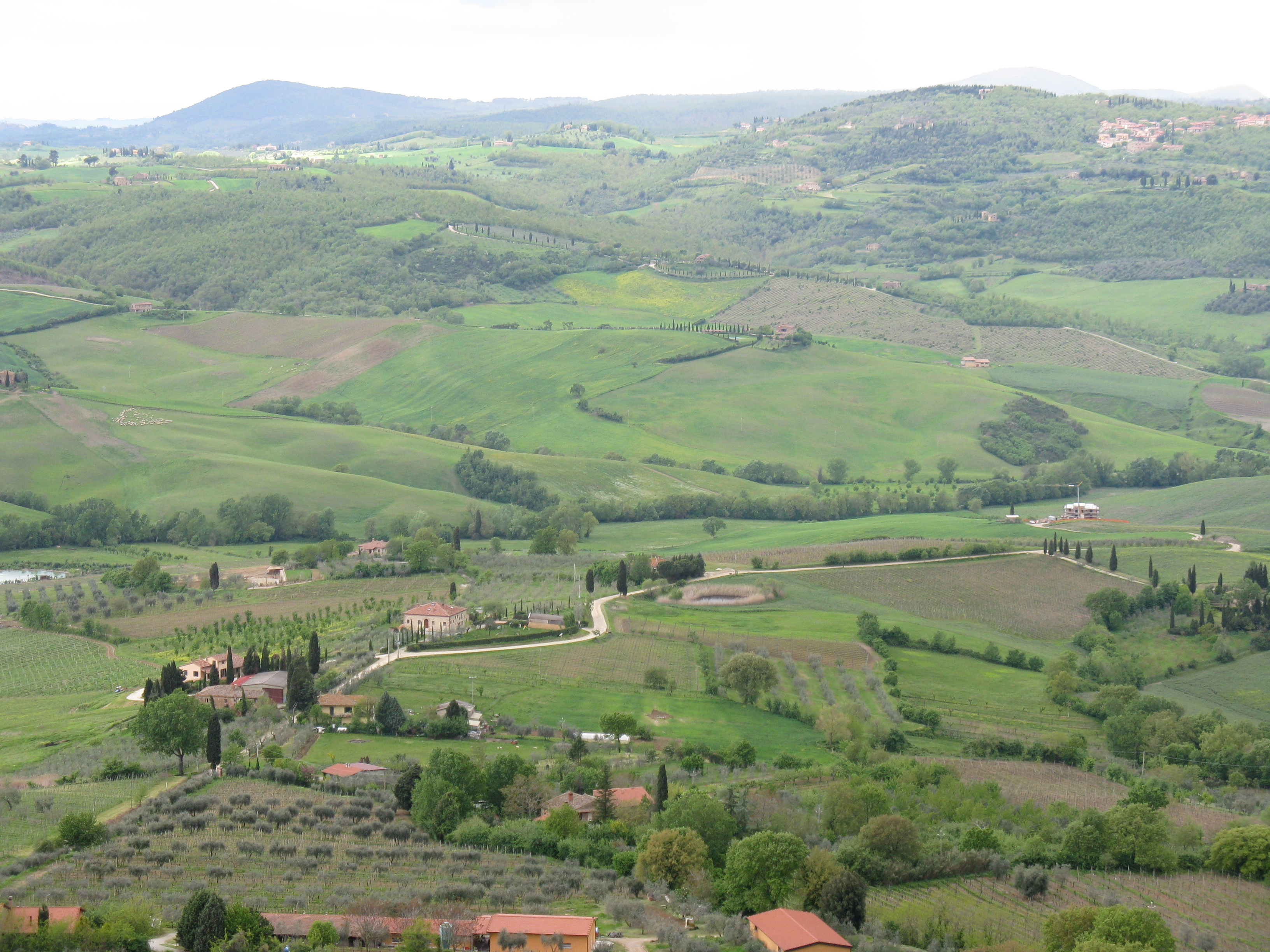 Chianti region from Montepulciano