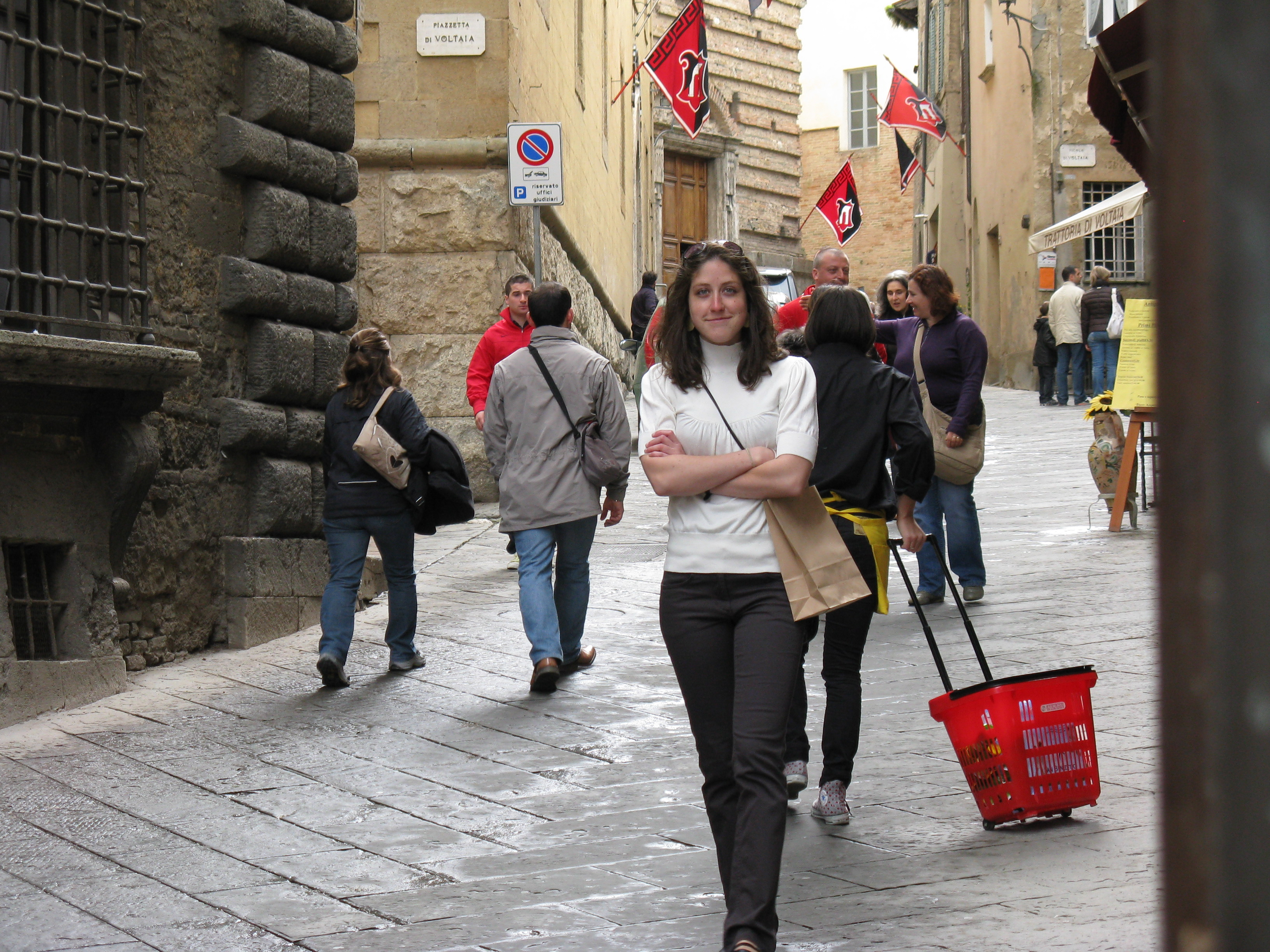 On the street in Montepulciano